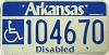 Arkansas Disabled graphic # 104670