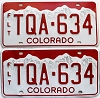 2016 Colorado Fleet graphic pair # TQA-634