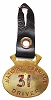 Hackney Carriage Driver brass medallion # 31 with leather strap