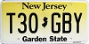 New Jersey Garden State graphic # T30-GBY