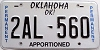 Oklahoma Permanent Apportioned # 2AL-560