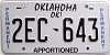 Oklahoma Permanent Apportioned # 2EC-643
