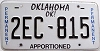 Oklahoma Permanent Apportioned # 2EC-815