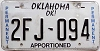 Oklahoma Permanent Apportioned # 2FJ-094