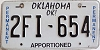 Oklahoma Permanent Apportioned # 2FI-654