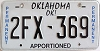 Oklahoma Permanent Apportioned # 2FX-369