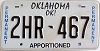 Oklahoma Permanent Apportioned # 2HR-467