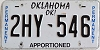 Oklahoma Permanent Apportioned # 2HY-546