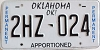 Oklahoma Permanent Apportioned # 2HZ-024