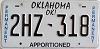 Oklahoma Permanent Apportioned # 2HZ-318