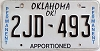 Oklahoma Permanent Apportioned # 2JD-493