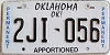 Oklahoma Permanent Apportioned # 2JI-056