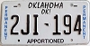 Oklahoma Permanent Apportioned # 2JI-194
