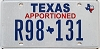 Texas Apportioned # R98-131