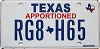 Texas Apportioned # RG8-H65