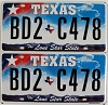 Texas Lone Star State graphic pair # BD2-C478