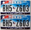 Texas Lone Star State graphic pair # BH5-Z603