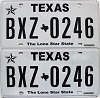 Texas Lone Star State graphic pair # BXZ-0246
