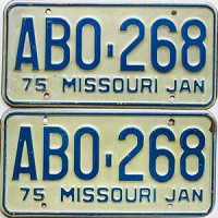 1975 Missouri pair # ABO-268