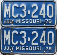 1979 Missouri pair # MC3-240