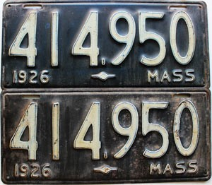 1926 Massachusetts pair # 414-950