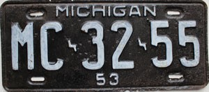 1953 Michigan # MC-32-55