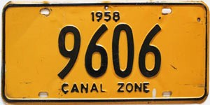 1958 Canal Zone # 9606