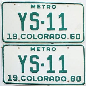 1960 Colorado Metro pair # YS-11, Douglas County