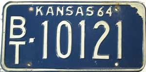 1964 Kansas # 10121, Barton County