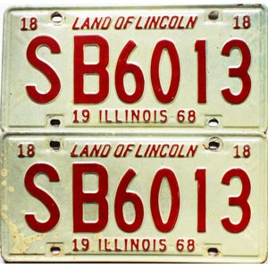 1968 Illinois pair #SB 6013