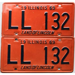 1969 Illinois pair # LL 132