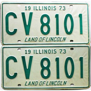 1973 Illinois pair # CV 8101