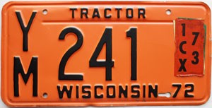 1972 Wisconsin Tractor # YM241