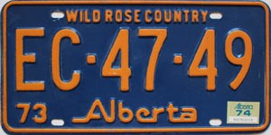1974 Alberta Wild Rose Country # EC-47-49