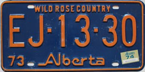 1974 Alberta Wild Rose Country # EJ-13-30