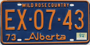 1974 Alberta Wild Rose Country # EX-07-43