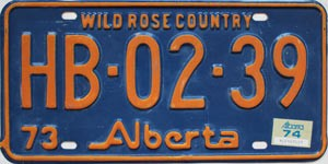 1974 Alberta Wild Rose Country # HB-02-39