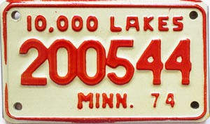1974 Minnesota 10.000 Lakes Motorcycle # 200544