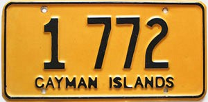 1975 Cayman Islands low number # 1 772