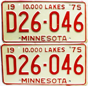1975 Minnesota Dealer pair # D26-046