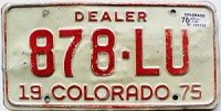 1976 Colorado Dealer # 878-LU, Larimer County