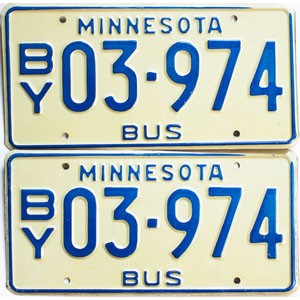 1976 Minnesota School Bus pair # 03-974