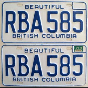1977 British Columbia pair # RBA-585