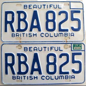 1977 British Columbia pair # RBA-825