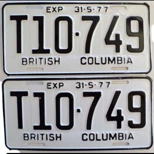 1977 British Columbia Logging Truck pair # T10-749