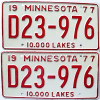 1977 Minnesota Dealer pair # D23-976