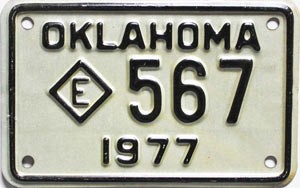 1977 Oklahoma Police Motorcycle # 567