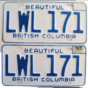1978 British Columbia pair # LWL-171