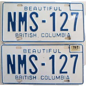 1978 British Columbia pair # NMS-127