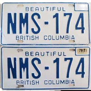 1978 British Columbia pair # NMS-174